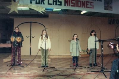 Grupo participando en el encuentro musical