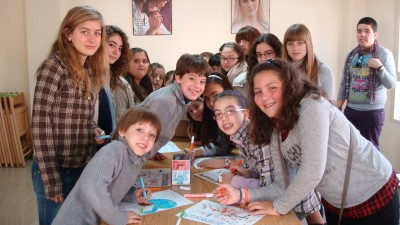 Talleres con los niños Domingo de la infancia  misionera.