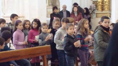 Ofrendas en la Eucaristía, con todos los cursos